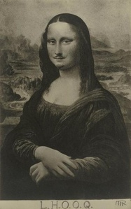 "Mona Lisa as seen by Duchamp (""La Joconde"" vue par Duchamp)."