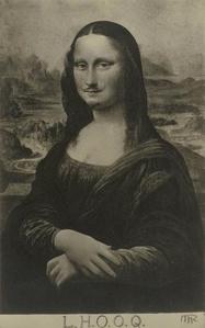 "Mona Lisa as seen by Duchamp (""La Joconde"" vue par Duchamp)."