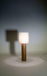 Walnut TABLE LAMP by Tinatin Kilaberidze