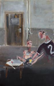 Erotisch Schilderij met Colaflesje (Erotic Painting with a Bottle of Coke)