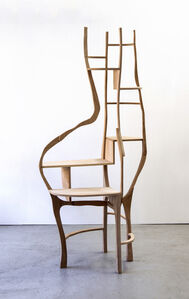 """Desk table / Shelving unit by Jacques Jarrige """" La Secretaire"""""""