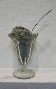 Untitled (Concrete Sundae in Glass Dish)