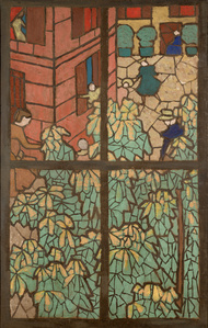 Chestnut Trees, a Cartoon for a Tiffany Stained-Glass Window