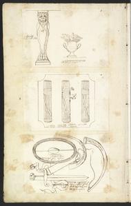 Fasci consolari antichi, nel cortile Palazzo Rondanini, Roma