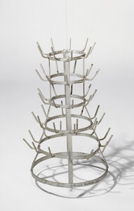 Bottle-Rack (The original, lost, was carried out in Paris in 1914. The replica was carried out under the direction of Marcel Duchamp in 1964 by the Gallery Schwarz, Milan. )