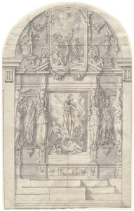 An Elaborate Altar with the Resurrection of Christ and the Martyrdom of Saint Andrew