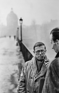 Jean-Paul Sartre, Le Pont des Arts, Paris