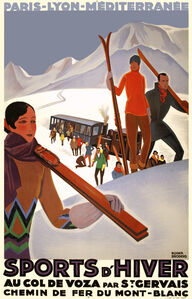 Sports D'Hiver Au Col De Voza - France - Skiing