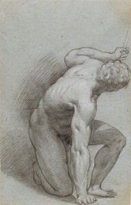 Kneeling Figure (recto), Reclining Figure (verso)