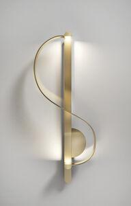 Clé De Sol, a gilded sculptural sconce