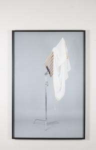 """Untitled (c-stand, muslin 4x4, bandera 4x4)"""
