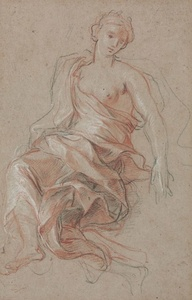 A draped female figure (study for L'Abondance)
