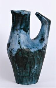 Vase Oiseau Bleu