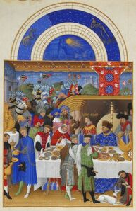January, miniature from the Très Riches Heures