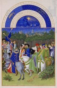 May, miniature from the Très Riches Heures