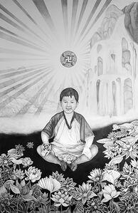 Shān shuǐ huà, Shansuihua - Portrait of Oli Xiaoyou Ma