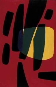 Monadi n. 2 bande nere fondo rosso sole giallo