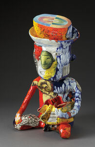 Pre-Columbian Man with George Ohr Pot