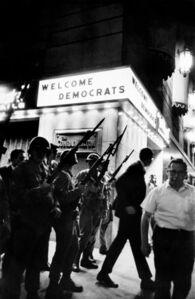 """Welcome Democrats"", Democratic Convention, Hilton Hotel, Chicago, 1968"