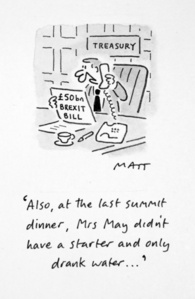 Also, At The Last Summit Dinner, Mrs May Didn't Have A Starter And Only Drank Water...