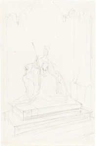 "Study for ""Queen Victoria Opening Parliament"""