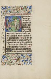 Initial O: The Martyrdom of Saint Sebastian