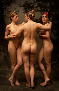 Anna, Sarabeth, Syrie / After Three Graces (Jean-Baptiste Regnault's The Three Graces, 1797-98)