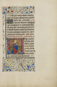 Initial V: Saint Apollonia with a Book and Tongs