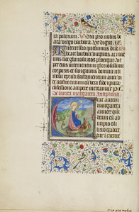 Initial E: Saint Margaret and a Dragon