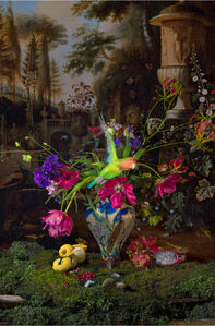 Still life with Parrot and Butterfly