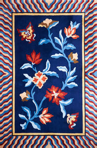 Rug with stylized floral pattern, New York