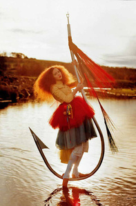 Lily on fish hook (Lily Cole)