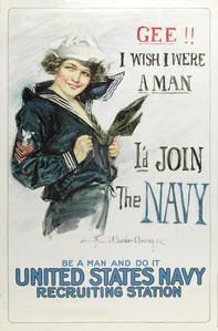 Gee I wish I were a Man, I'd Join the Navy