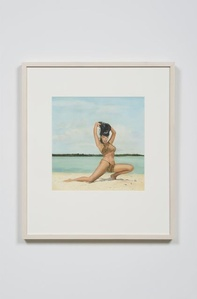 Bettie Page Clutching her Hair at Key Biscayne, FL