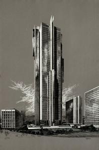 Theme Building - Century City (Grey), Welton Becket Architect