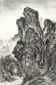 Fiery Ink, Waiting to Cross a Mountain Stream by Guan Tong