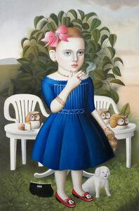 Girl with Tea Set