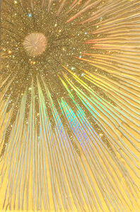 Asymmetrical Gold Starburst Horizontal