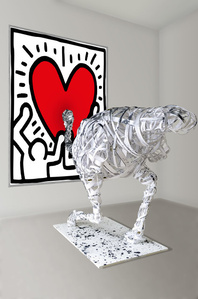 Misplaced Installation: Homage to Keith Haring