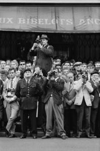 Failed Paris Summit Conference 1960: The press awaits  the participants. Paris