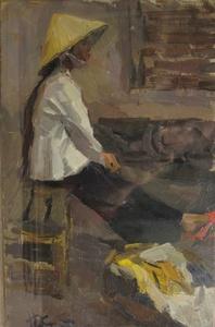 Girl selling bananas