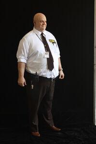 Big Man Security Guard (bald with keys)