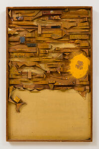 Untitled (wood relief)