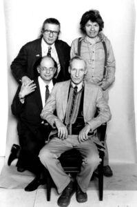 Peter Orlovsky, Gregory Corso, William Burroughs, and Allen Ginsberg