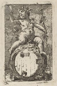 The Infant Bacchus Astride a Wine Barrel