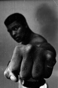Muhammad Ali Showing off his Left Fist