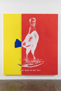 WEE MAN FOR PRESIDENT aka Historical Campaign Poster Painting No.3 (The Bird to Bet On)
