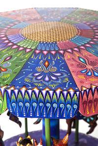 Nacimiento Carrusel Woodcarving Mexican Folk Art Sculpture Nativity