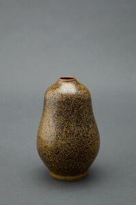 Gourd vase, teadust glaze