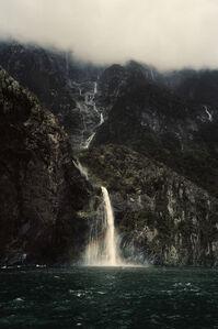 New Zealand, Milford Waterfall